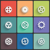 Gear Icon Vector Set — Stockfoto