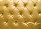 Golden Möbelleder als Textur und Muster — Stockfoto