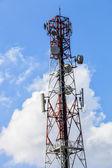 Huge communication antenna tower — Stock Photo