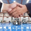 Two businessmen shaking hands — Stock Photo