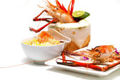 Fried rice with shrimp. — Stock Photo