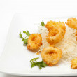 Fried squid ring. — Stock Photo