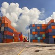 Containers in the port — Stock Photo