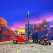 Containers in the port — Foto Stock