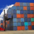 Containers in the port — Stockfoto
