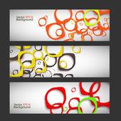 Set vector style background — Stok Vektör