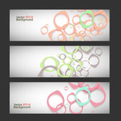 Set vector style background — Stock Vector
