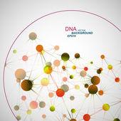 Dna の背景をベクトルします。 — ストックベクタ