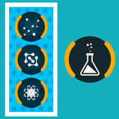 Set icons chemical experiments eps — Stock Vector