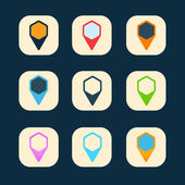 Set of colored icons to indicate the empty space — Vector de stock