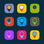 Set of colored icons to indicate the empty space — Vettoriale Stock