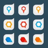 Set of colored icons — Stock Vector