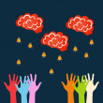 Vector concept of brainstorming eps — Stock Vector