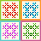 Set color molecule pattern eps — Stock Vector