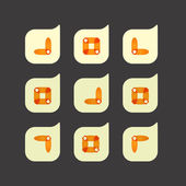 Vector set of beautiful abstract icons — Stock Vector