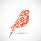 Beautiful vector flat silhouette of the bird — Stock Vector