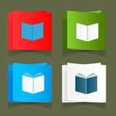 Set icon of an open book vector — Stock Vector