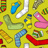 Colored socks — Stok Vektör
