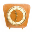 Stock Photo: Antique wooden clock