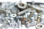 Screws, bolts and nuts — Stock Photo