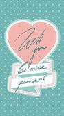 Mutlu sevgililer günü! — Stok Vektör