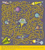 Space Maze Game — Stock Vector