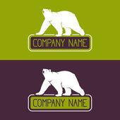 Polar bear vector icon — Stock Vector