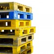 Stock Photo: Stack of wooden pallets