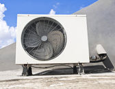 Air conditioning,Outdoo r compressor unit — Stock Photo
