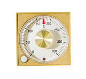 Temperature setting with red indicator in vintage style — Stock Photo