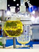 Glassware in chemical laboratory — Zdjęcie stockowe
