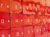 Post office boxes with numbers — Foto Stock