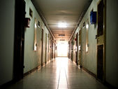 Corridor with an number of rooms — Stock Photo