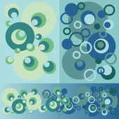 Set of pattern from variety circles — Stock Vector