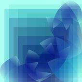 Abstrakt blå mönster geometriska — Stockvektor