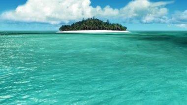 Tropical island — Stock Video