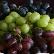Stock Photo: Purple, Red and Green Grapes