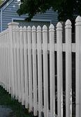Valla blanca — Foto de Stock
