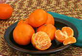 Clementines on a Plate — Stock Photo