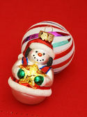 Smiling Snowman Christmas Ornament — Photo