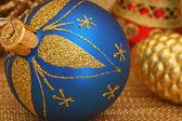 Blue christmas lampa — Stockfoto