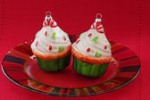 Cupcake Christmas Ornaments — Foto Stock