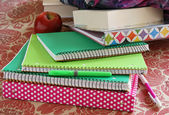 School Notebooks and Binders — Stock Photo