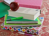 Notebooks and Books — Stock Photo