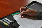 Businessman's Hand Writing — Stock Photo