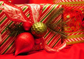 Wrapped Christmas Presents — Stock Photo