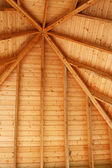 Wooden Gazebo Ceiling — Stock Photo