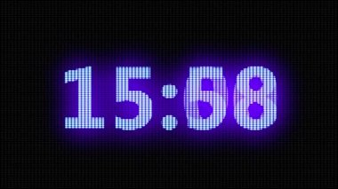 Blue digital countdown timer — Stock Video