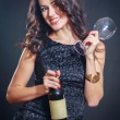 Beautiful girl with wine — Stock Photo