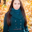 Beautiful girl in the autumn park — Stock Photo #34001303